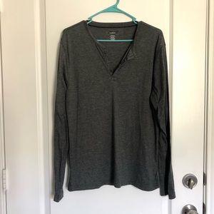 Alfani grey long sleeve shirt